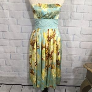 Plenty by Tracy Reese Yellow Silk Floral Dress